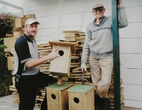 Box work: Chris Bindon left, and Henning Hovmand (deceased) making Grey Teal boxes in 2006.