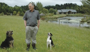 Ossie Latham: Along with his faithful hounds, Ossie and Mary Latham have turned their section of the Manawatu into a haven for water birds, along with running the farm.
